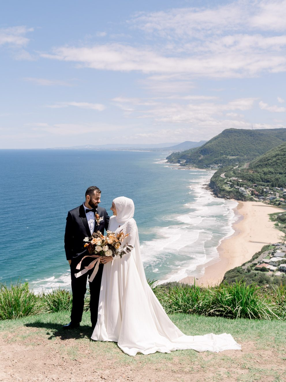 Photo of the couple at stanwell park top wollongong.