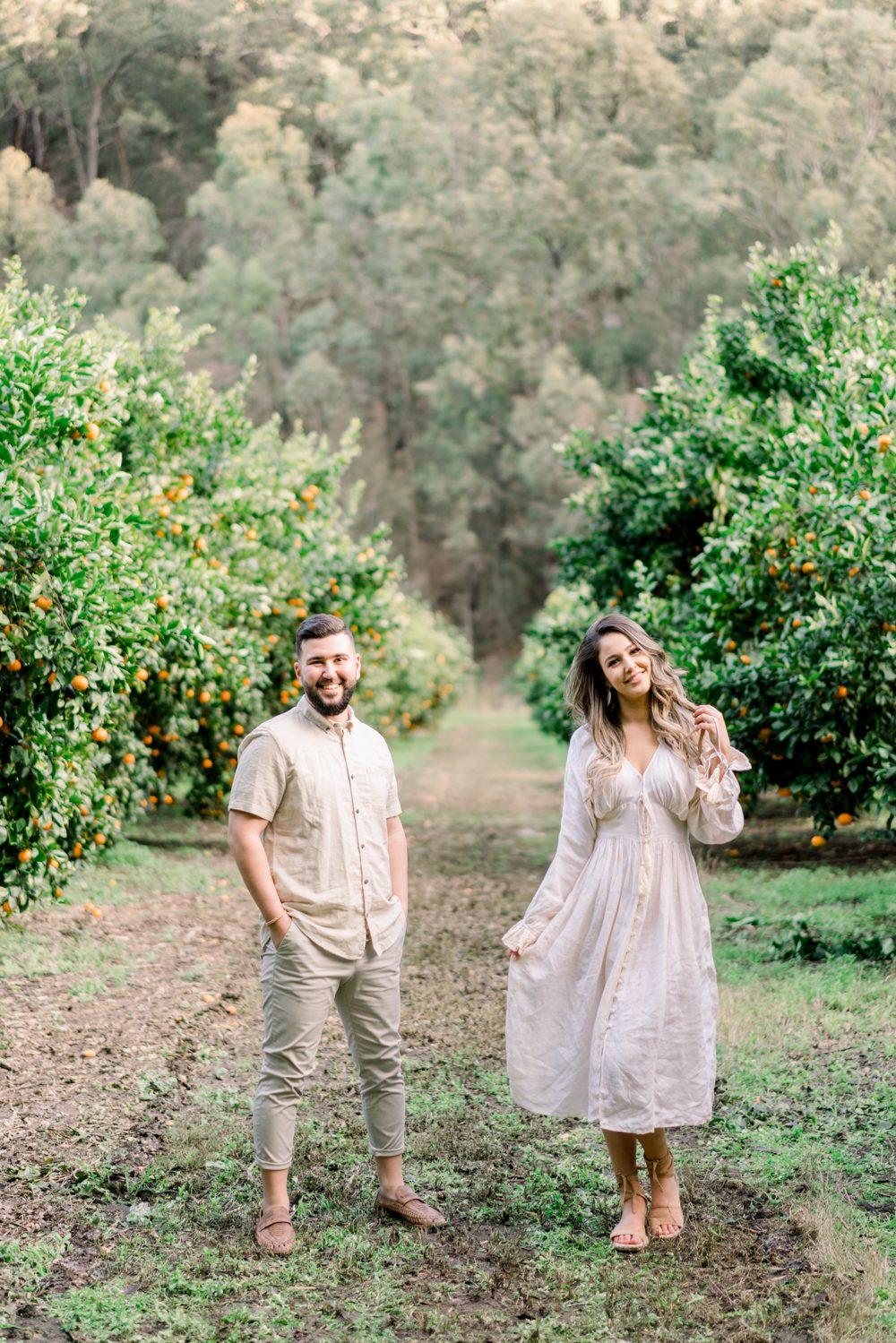 Engagement photo at Watkins family farm
