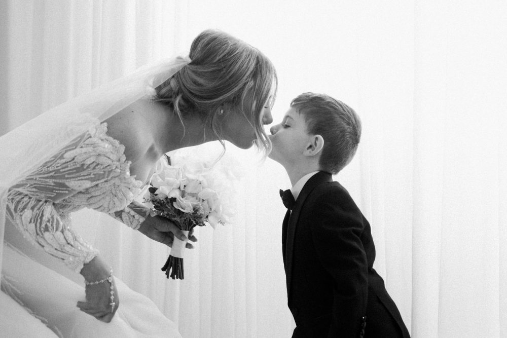 Bride with her nephew