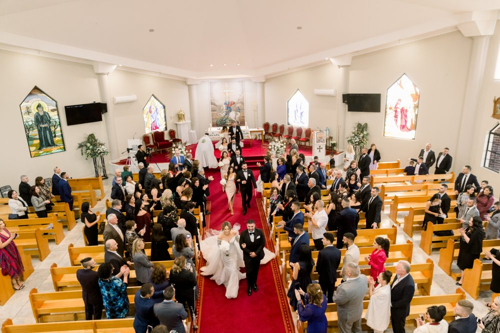 Wedding cereomony at st george maronite catholic church