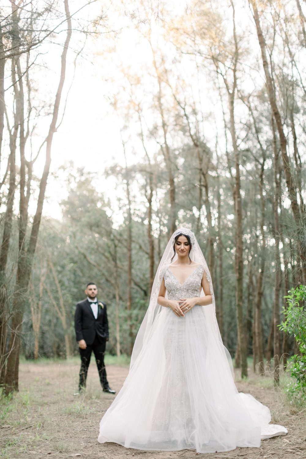 Photos of bride and groom and the bridal party at Sydney Olympic park
