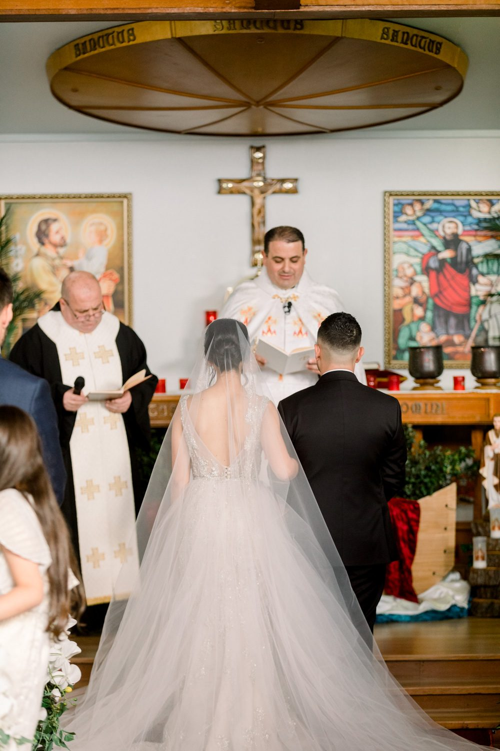 photos of Bride and groom's church ceremony