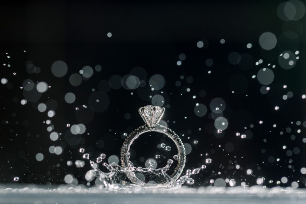 ring shot with our creative ideas using water and flash