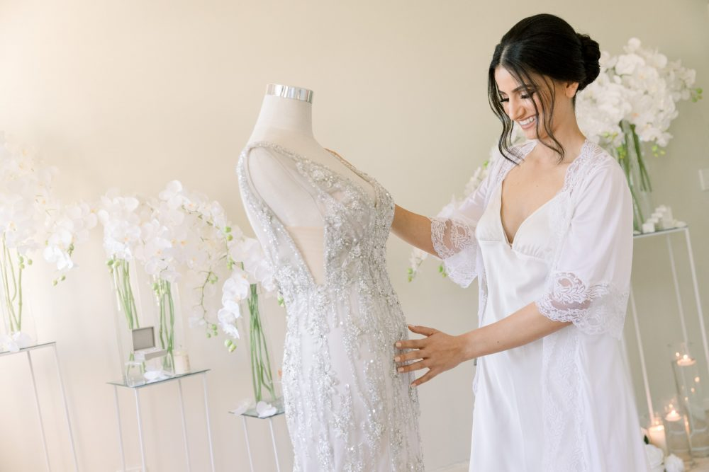 Wedding gown and the bride