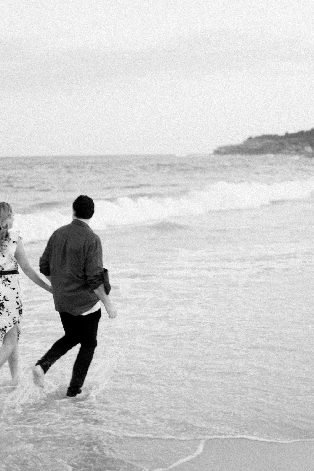 Engagement photo at Coogee Beach